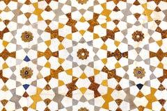 Struttura del particolare del mosaico delle pietre colorate in marmo Fotografie Stock