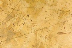 Struttura del piatto d'ottone Fotografie Stock