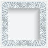 Struttura del pizzo della carta quadrata Fotografie Stock