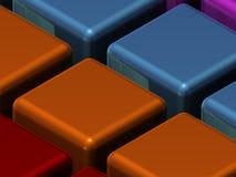 Struttura del primo piano dei cubi Immagine Stock Libera da Diritti