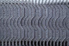 Struttura del primo piano delle mattonelle di tetto concrete Immagini Stock