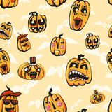 Struttura del quadro televisivo per Halloween che consiste degli elementi di festa Illustrazione Vettoriale