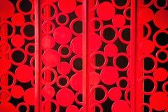 Struttura del recinto del metallo dipinta rosso Fotografie Stock Libere da Diritti