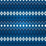 Struttura del rombo differente su un fondo blu Fotografie Stock