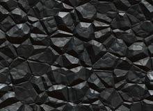 Struttura del solido del carbone. minerale metallifero di estrazione mineraria  Immagini Stock
