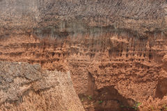 Struttura del suolo della terra dalla miniera di ferro Fotografia Stock Libera da Diritti