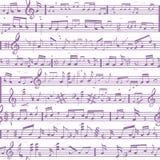 Struttura del suono della nota di musica Immagini Stock