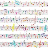 Struttura del suono della nota di musica Fotografie Stock Libere da Diritti