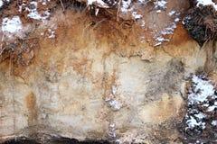 struttura del taglio del suolo Fotografia Stock