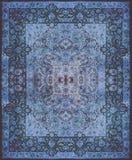 Struttura del tappeto persiano, ornamento astratto Modello rotondo della mandala, struttura tradizionale del Medio-Oriente del te Fotografie Stock
