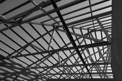 struttura del telaio d'acciaio del tetto fotografie stock