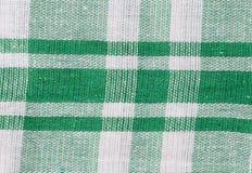 Struttura del tessuto in bande verdi Fotografia Stock Libera da Diritti