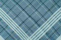 Struttura del tessuto blu del plaid Fotografia Stock
