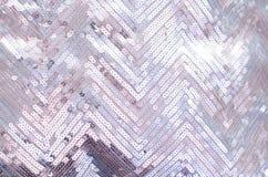Struttura del tessuto con gli zecchini d'argento di luccichio immagini stock libere da diritti