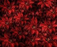 Struttura del tessuto con i fiori Fotografia Stock Libera da Diritti