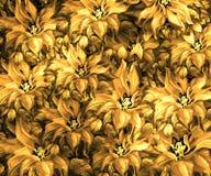 Struttura del tessuto con i fiori Immagini Stock