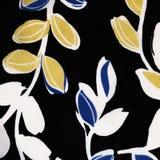 Struttura del tessuto con il modello delle foglie come fondo Fotografia Stock Libera da Diritti