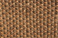 Struttura del tessuto del rattan Fotografia Stock