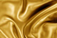 Struttura del tessuto dell'oro Immagini Stock Libere da Diritti