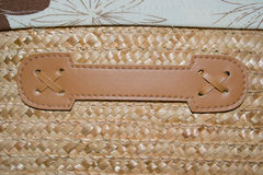 Struttura del tessuto di canestro Fotografia Stock Libera da Diritti
