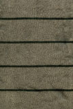 Struttura del tessuto di cotone - grigia/verde con le bande verde scuro Immagini Stock Libere da Diritti