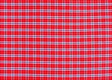 Struttura del tessuto di tessuto rosso del plaid di tartan Immagine Stock