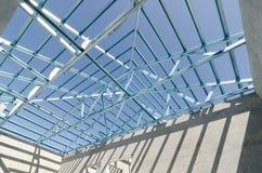 Struttura del tetto d'acciaio Fotografie Stock Libere da Diritti
