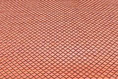 Struttura del tetto di piastrella di ceramica di Brown per fondo Fotografia Stock