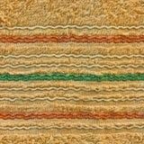Struttura del tovagliolo con la riga variopinta Fotografia Stock