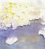 struttura dell'acquerello Forme fantastiche operate dell'impronta Fotografia Stock