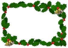 Struttura dell'agrifoglio di Natale con la decorazione, illustrazione 3D Immagine Stock Libera da Diritti