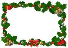 Struttura dell'agrifoglio di Natale con la decorazione, illustrazione 3D Fotografia Stock Libera da Diritti