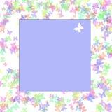 Struttura dell'album per ritagli della farfalla illustrazione di stock