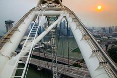 Struttura dell'aletta di filatoio di Singapore fotografia stock libera da diritti