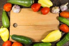Struttura dell'alimento con le verdure organiche fresche Fotografia Stock