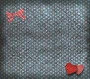 Struttura dell'annata, scheda del biglietto di S. Valentino Fotografia Stock