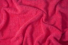Struttura dell'asciugamano rosso Fotografia Stock Libera da Diritti