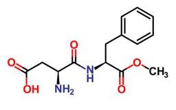 Struttura dell'aspartame illustrazione vettoriale
