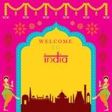Struttura dell'attrazione di viaggio dell'India Fotografia Stock