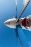 Struttura dell'estratto del primo piano delle palette della turbina dell'aeroplano Fotografia Stock Libera da Diritti