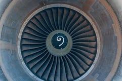 Struttura dell'estratto del primo piano delle palette della turbina dell'aeroplano Fotografie Stock Libere da Diritti