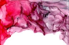 Struttura dell'inchiostro dell'alcool Fondo fluido dell'estratto dell'inchiostro arte per progettazione illustrazione vettoriale