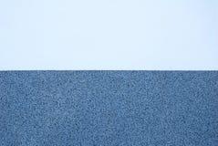 Struttura dell'intonaco in due toni differenti di colore blu Fotografia Stock Libera da Diritti