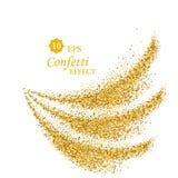 Struttura dell'onda di scintillio dell'oro isolata su bianco Fondo ambrato di colore Esplosione dorata dei coriandoli illustrazione vettoriale