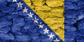 Struttura della bandiera della Bosnia-Erzegovina immagini stock libere da diritti