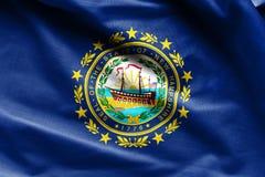 Struttura della bandiera di New Hampshire - bandiere del tessuto da U.S.A. Fotografia Stock