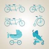 Struttura della bici un Struttura della bicicletta un, andando in bicicletta ciclare Illustrazione di vettore Fotografia Stock Libera da Diritti
