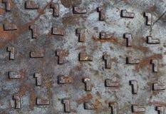 Struttura della botola e superficie arrugginita Fotografia Stock