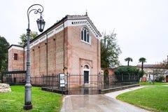 Struttura della cappella di Scrovegni nella città di Padova Immagine Stock