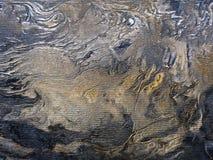 Struttura della carta da parati del vinile delle strisce di marmo dell'oro Fotografie Stock